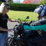 Explications des commandes de la moto