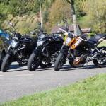 Les motos de l'auto-école