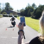 Contrôle Radar sur le plateau de préparation au permis moto