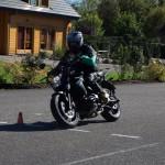 Slalome en moto sur le plateau Route de Thann à Cernay