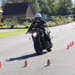 Évitement en moto préparation à l'examen du plateau