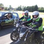 Kawasaki ER6-N et Honda CB500 prêt pour le départ de Cernay
