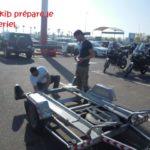 Chakib prepare motos
